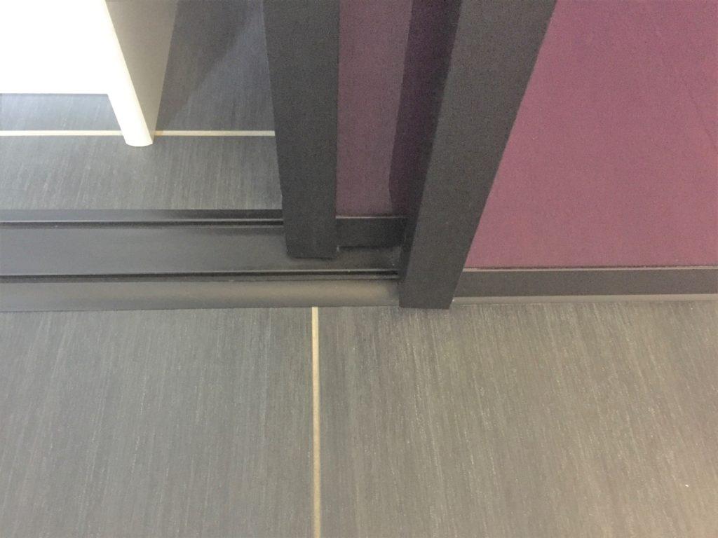 Profil haut de portes de placard coulissante