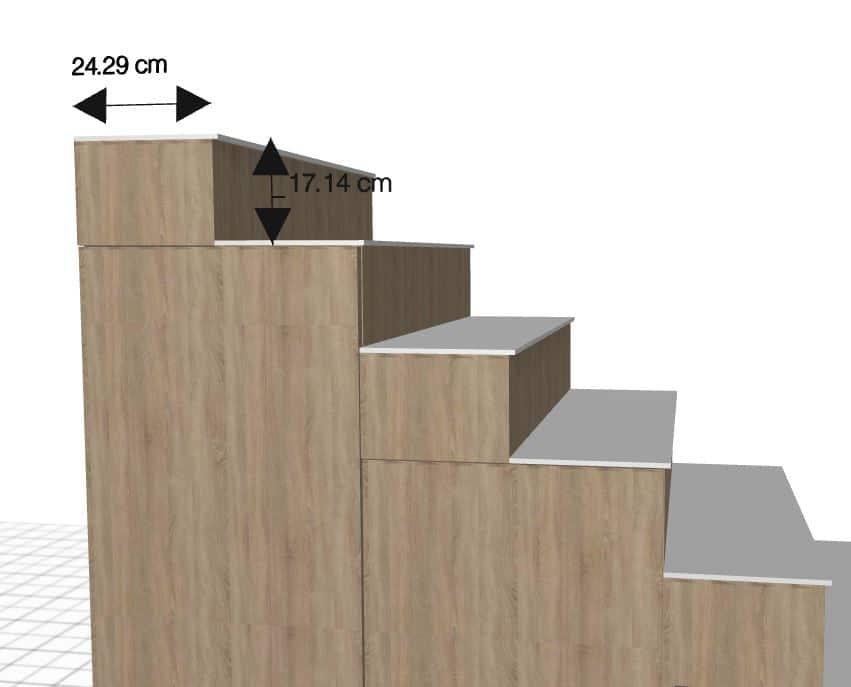 dimensiones de una escalera