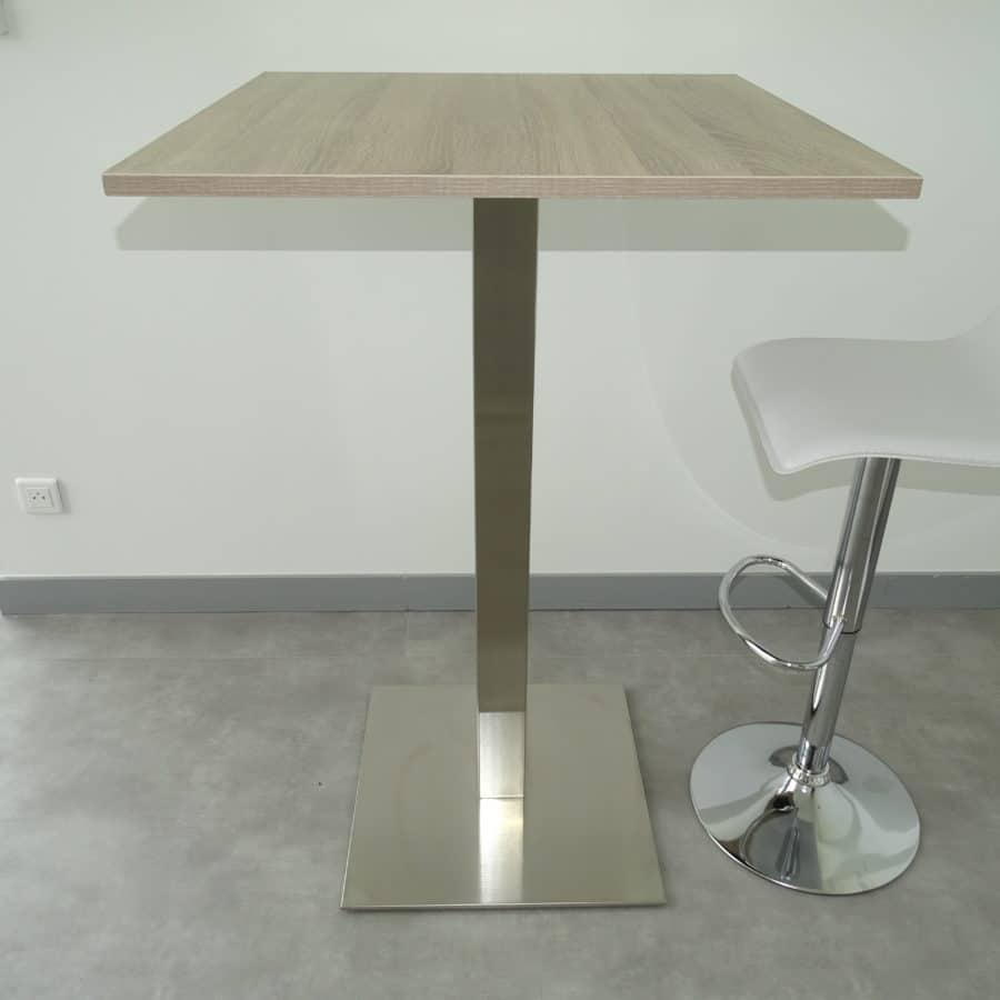 Mesa de aperitivos de acero inoxidable a medida