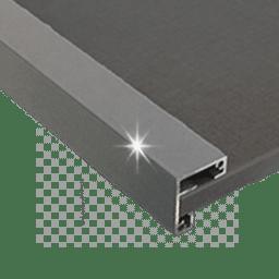 perfil gris aluminio