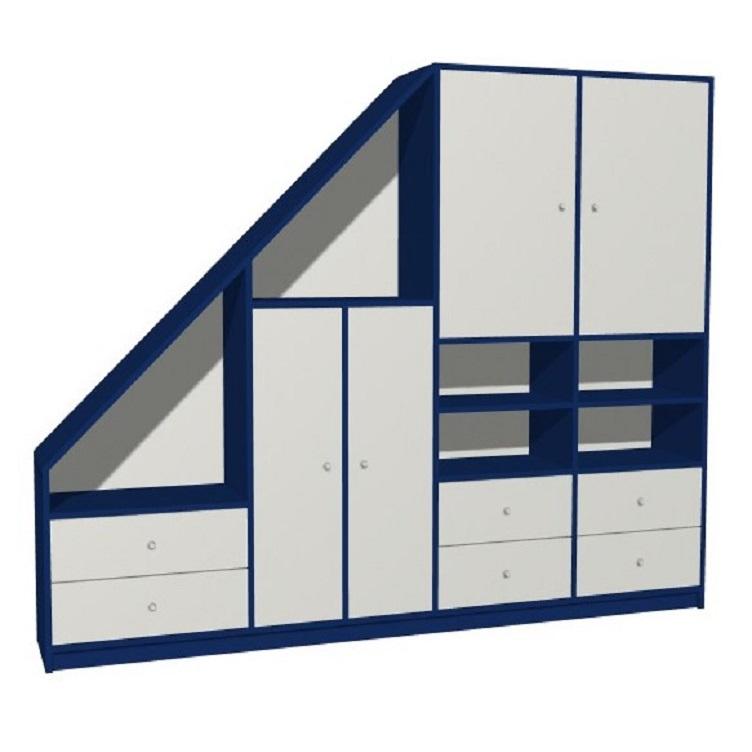 Armario de dormitorio debajo del lado inclinado